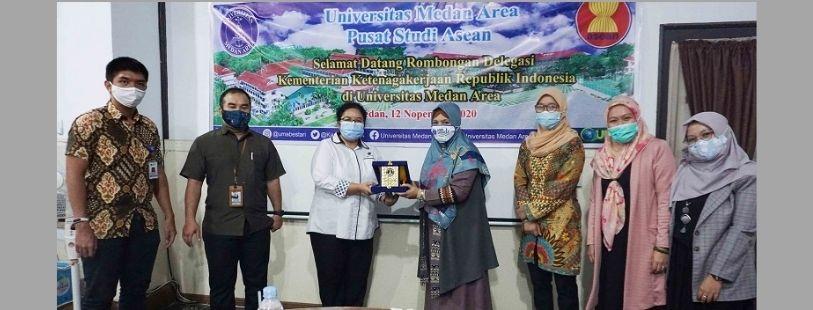 Kunjungan Delegasi Kementerian Ketenagakerjaan Republik Indonesia Ke Universitas Medan Area